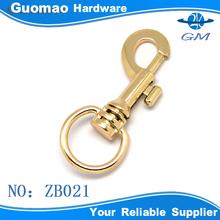 Light gold fashion zinc alloy hook metal handbag dog leash hook