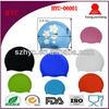Wholesale Waterproof Custom Logo Printed Funny Silicone Swim Cap