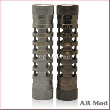 2014 factory supply AR mod clone mechanical AR mod black/gold vape ar mod support 18650 battery in stock