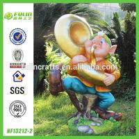 "35""Handmade Graphic Gnome Figurine"