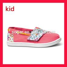 european canvas kid shoes casual children shoe buckle