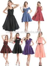 NEW bestdress Vintage 50s Halter Neck Dress Polka dots Swing Jive Dress Rockabilly Retro PinUp Dress uk8-24