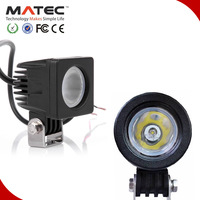 High illumination super bright PC lens round square led work light 10w