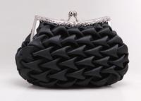 Fashion Weaved Satin Evening Bag Evening Clutch