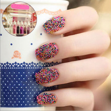 Color Pearl nail polish sticker ,caviar nail polish ,art nail decoration