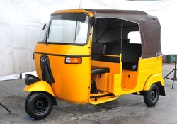 2015 newest model CNG gasoline auto taxi passenger tricycle three wheel bajaj for Bangladesh, India,Afirca market for sale