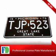 michigan number plate,souvenir motorcycle