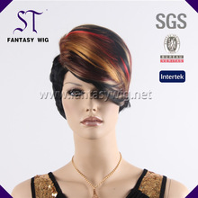 China Factory Wholesale Synthetic Highlighted Ombre Fashion Unique Short Women Hair Wigs 2014 New