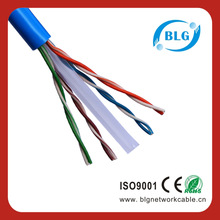 High speed PVC Jacket/PE insulation 4 pairs OFC/CU+CCS Conductor 1000ft/roll 23awg cat6 utp