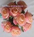 rosa artificial casamento rosa bouquet com nove cabeças