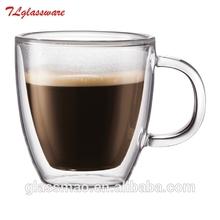hand blown high borosilicate glass coffee cup