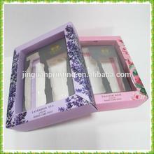 PVC insert, PVC window&Matt lamination cosmetic boxes