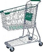 SCYGS10 powder coating 100L shopping cart