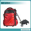 nuevo diseño de bolso de la carretilla de la escuela mochila en la rueda