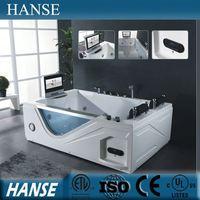 Aqua massage bathtub, acrylic skirt bathtub,double apron bathtub HS-B289