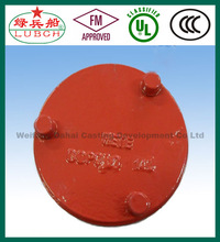 76.1mm x 1/2 inch ASTM A536 FM UL ULC ductile iron sand casting grooved threaded cap pipe end cap