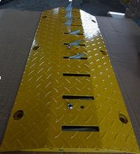 Yellow security steel road barrier