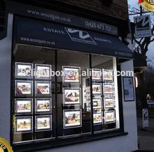 Real Estate Agents LED Light Pockets LED Window Display