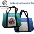 Em branco sacos de lona, personalizado impresso sacola, sublimação saco de supermercado