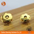high end acessórios de tecido dourado ilhós magnético snap botão do fabricante de china