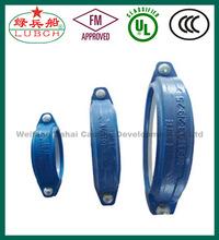 ASTM A536 FM UL ULC flexible coupling ductile iron sand casting rigid flexible coupling