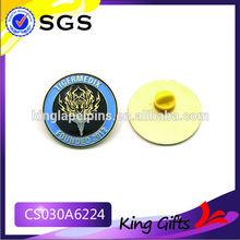 Soft enamel company found souvenir gold metal lapel pin with tiger logo