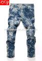 2014 novo estilo de moda homens jeans calças macacão neve lavar calças r1323