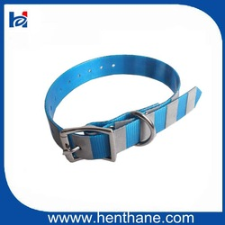Keep Dog Safe at Night TPU Reflective Dog Collar in Blue