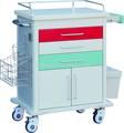 緊急トロリー、 医療、 病院、 カート、 abs、 プラスチックスチール、 ce/i so9001/i so13485