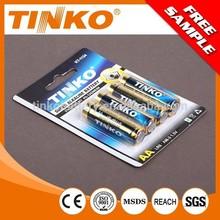 LR6 Super Alkaline battery size AA for toy OEM welcomed 4pcs/shrink battery manufacturer/ dry battery