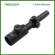 1-6x24 Tactical Riflescope with red dot Illuminated Glass Etched Reticle hunting scope