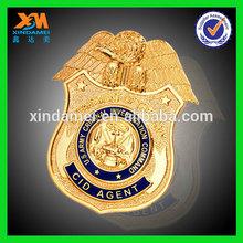 wholesale bulk gold plating custom badge toy (xdm-b091)