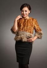 2015 New Fashion Rex Rabbit fur Clothes, high quality rabbit fur coat for woman