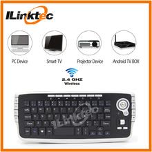 2.4g Chocolate Wireless Keyboard and Mouse combo Trackball