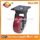 5 Inch Red PU Swivel Heavy Duty Caster Wheel