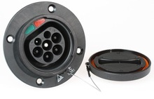 TUV approved car side 62196-2 type 2 male & EVCharge 16amp IEC62196-2 Car Socket Inlet Panel