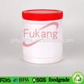1000ml de polietileno blanco( polietileno de alta densidad) la medicina de plástico de la botella redonda de embalaje de la píldora/tabletas con papel de aluminio