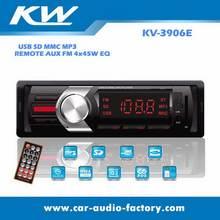 3906e LED aux remote 7388 4x45w car MP3 WMA player