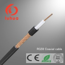 high quality RG59 coaxial cable jelly filled 75 ohm 0.81mm BC conductor PVC jacket