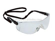 CE EN166 & ANSI Certificate PC Lens , adjustable temple .safety goggle