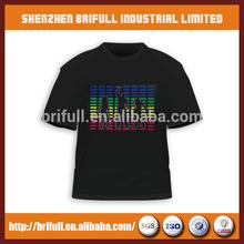 promotinal custom price t-shirt led guang dong supplier