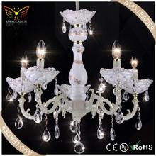 2014 Hot sale white crystal unique classic chandelier