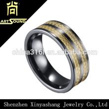 Hot sale latest carbon fiber custom mens rings
