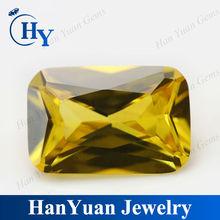 Rectangle Shape Golden CZ Semi-Precious Gems