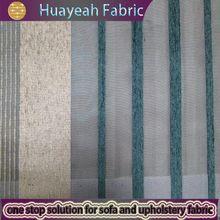 Stripe chenille polyester check and stripe fabric