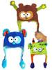 New design children crazy warm knitted hat kids winter animal hat funny cartoon hats