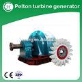 Turbina pelton mini hidro gerador/pelton roda