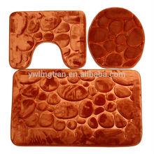 Hot Sale NEW 3 Pcs Memory Foam Mat Anti Silp Bathroom Foot Mat Toilet Mat