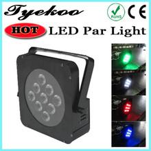 led par light led flat par can 9*10w 4 in 1 quad-color led par can