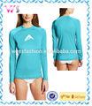 mulher madura spandex lycra manga comprida surf natação camiseta